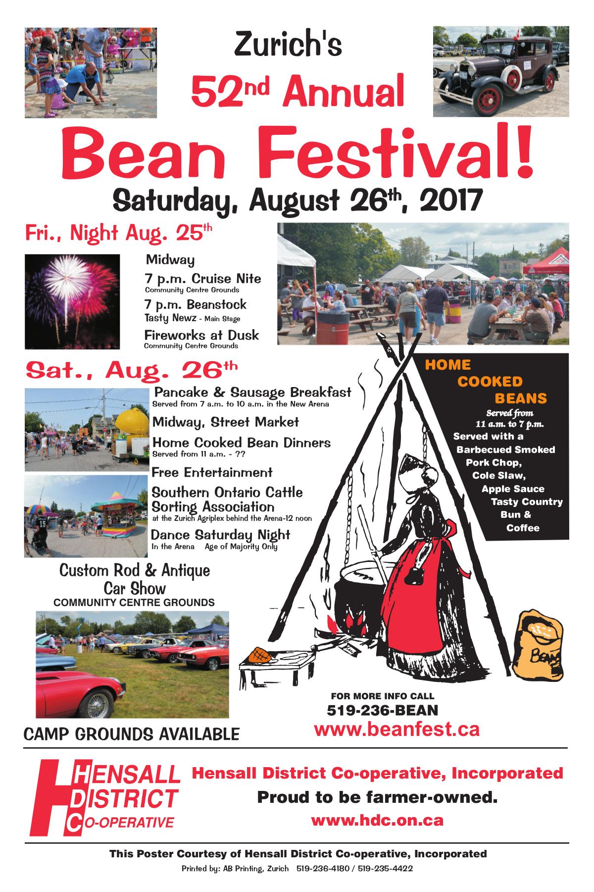 52nd Bean Fest Poster