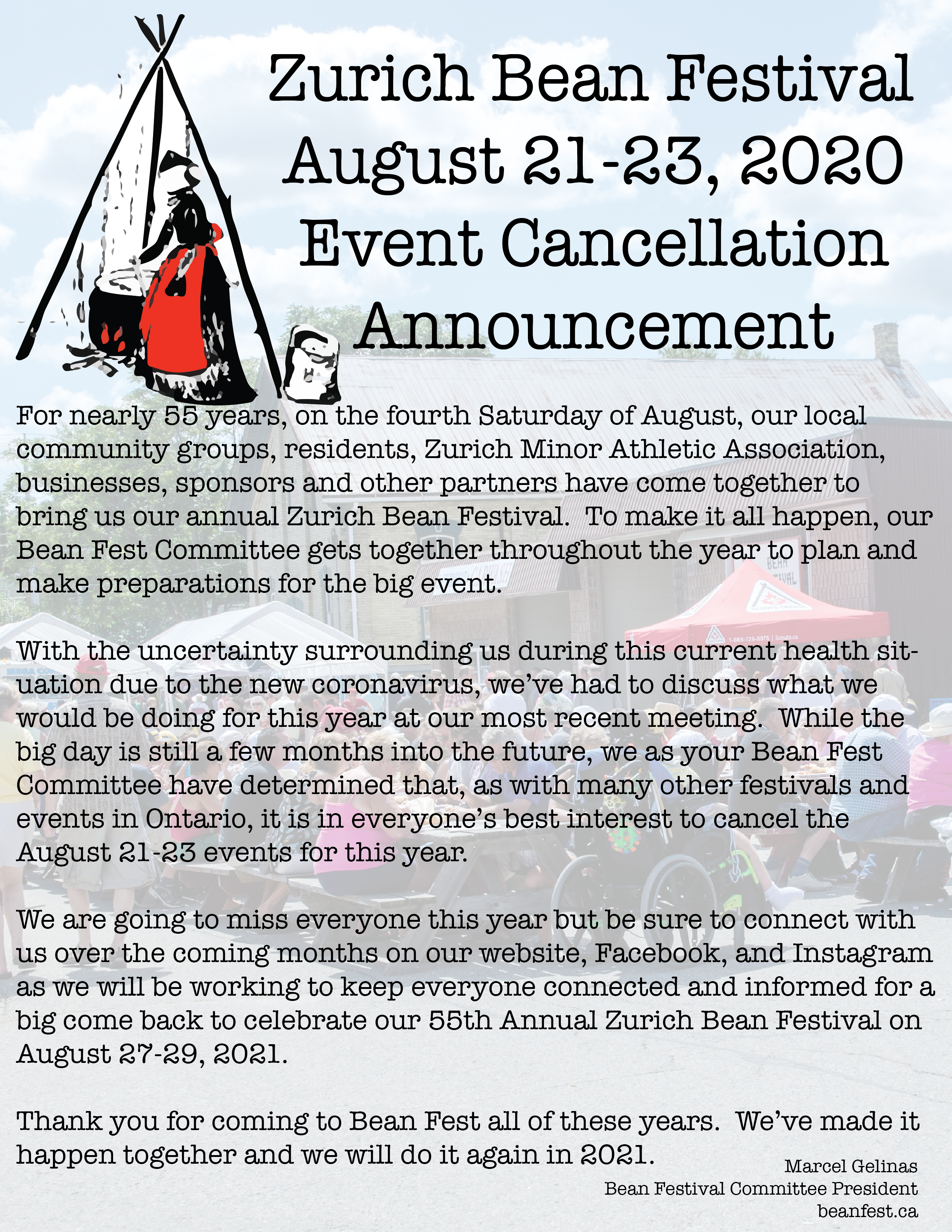 Zurich Bean Festival 2020 - Cancelled
