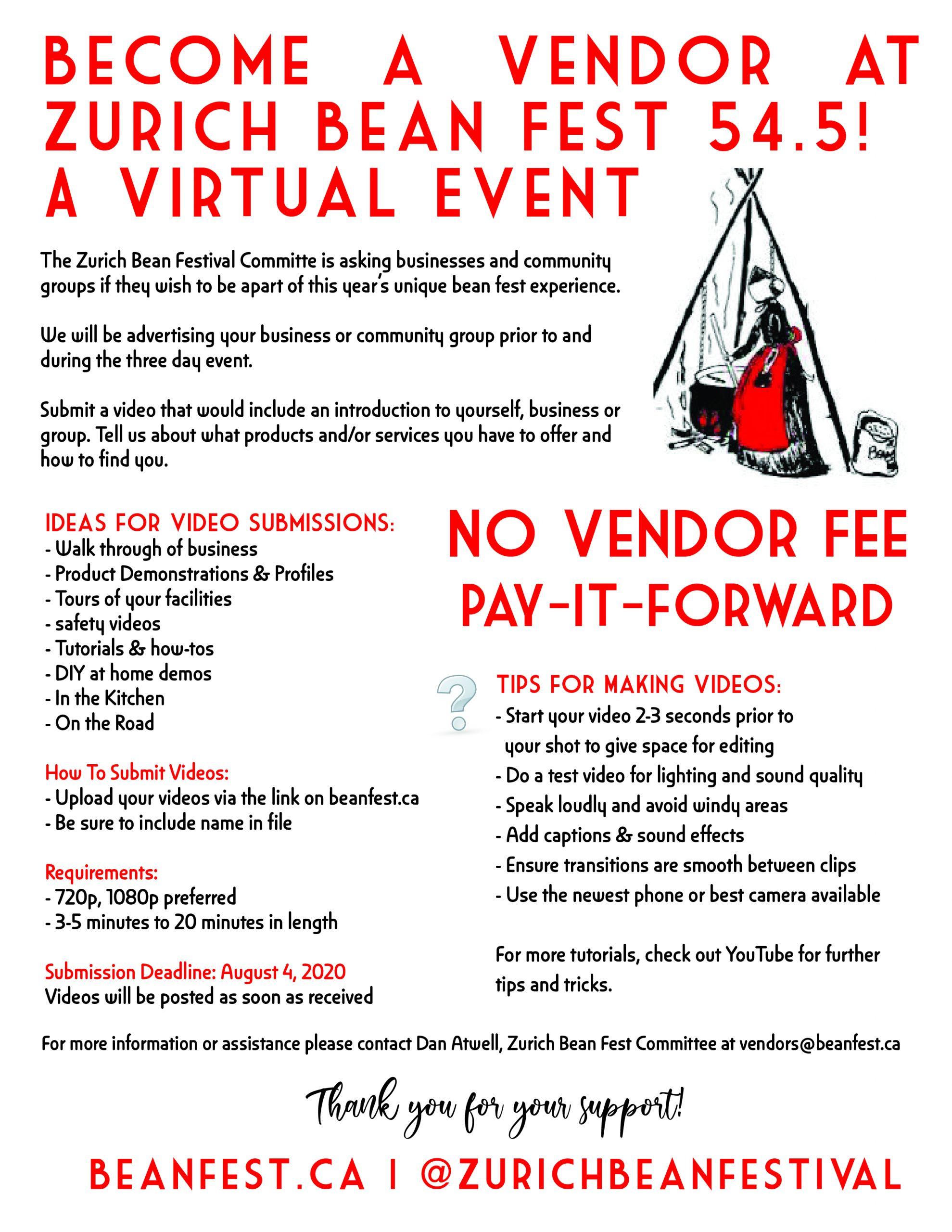 Join us as a vendor for Virtual Bean Fest 2020